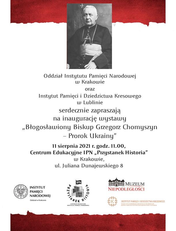 Wystawa biskup Grzegorz Chomyszyn